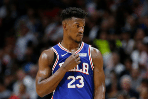 "Jimmy Butler to meet with Heat on Sunday, meeting with Houston ""likely early"" next week  Sixers ""haven't ruled out"" sign-and-trade with either team, per Adrian Wojnarowski: StubHb  LA  23 Jimmy Butler to meet with Heat on Sunday, meeting with Houston ""likely early"" next week  Sixers ""haven't ruled out"" sign-and-trade with either team, per Adrian Wojnarowski"