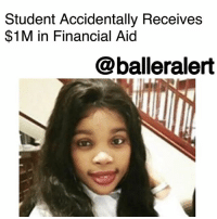 "Anaconda, Books, and cnn.com: Student Accidentally Receives  $1M in Financial Aid  @balleralert Student Accidentally Receives $1M in Financial Aid - blogged by: @its_sharr ⠀⠀⠀⠀⠀⠀⠀ ⠀⠀⠀⠀⠀⠀⠀ A South African student accidentally received a deposit of $1 million in her financial aid account and spent more than $60k before authorities realized the mistake. Walter Sisulu University in Eastern Cape province accidentally loaded the massive funds onto the student's financial aid debit card. ⠀⠀⠀⠀⠀⠀⠀ The financial assistant was only supposed to be a $100 stipend for food and books, and was available to the student immediately. However, four extra zeroes were accidentally added to the deposit, quicky turning the student's $100 stipend into a $1 million shopping spree. University officially didn't realize the mistake until another student discovered the young woman's newly found extravagant spending habits and alerted authorities. ⠀⠀⠀⠀⠀⠀⠀ While several media outlets identified the student on social media, university officials have refused to release the student's identity in compliance with South African law. In just a few weeks, WSU claims that the student spent tens of thousands of dollars on miscellaneous items and WSU officials have started examining her transaction records to determine the extent of her shopping spree. ⠀⠀⠀⠀⠀⠀⠀ According to CNN, the student's financial aid account has been blocked and the remaining balance has been retracted. ⠀⠀⠀⠀⠀⠀⠀ ""The student will be liable for the money she's already spent,"" a WSU spokesperson stated. Intellimali, the financial aid company responsible for issuing the cards, has taken full responsibility for the oversight and have put new polices in place to ensure this incident never happens again. ⠀⠀⠀⠀⠀⠀⠀ Intellimali has also appointed an auditor to investigate the incident further and claimed legal action will be taken against the student for the misuse of funds. The South African Parliament also weighed in on the oversight stating, ""this is unacceptable that such a grave mistake as this one could occur undetected on money appropriated by Parliament."""