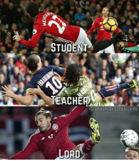 The best learn from the best 👌: STUDENT  TEACHER  IG: CWORLDFOOTBALLVIDS  LECT  LORD The best learn from the best 👌