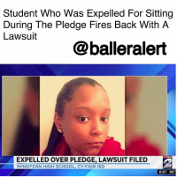 Student Who Was Expelled For Sitting During The Pledge Fires Back With A Lawsuit-blogged by @niksofly ⠀⠀⠀⠀⠀⠀⠀⠀⠀⠀⠀⠀⠀⠀⠀⠀⠀⠀⠀⠀⠀⠀⠀⠀⠀⠀⠀⠀⠀⠀⠀⠀⠀ 17-year old India Landry was expelled after she declined to stand for the pledge. According to documents, Landry had sat during the Pledge at least 200 times across 6 periods. ⠀⠀⠀⠀⠀⠀⠀⠀⠀⠀⠀⠀⠀⠀⠀⠀⠀⠀⠀⠀⠀⠀⠀⠀⠀⠀⠀⠀⠀⠀⠀⠀⠀ On October 2, the Cy-Fair ISD student was sent to the office for cell-phone use. While there, the Pledge of Allegiance was broadcasted via the intercom. Landry sat. When asked by Principal Martha Strother to stand she refused prompting the principal to take disciplinary action expelling the student. ⠀⠀⠀⠀⠀⠀⠀⠀⠀⠀⠀⠀⠀⠀⠀⠀⠀⠀⠀⠀⠀⠀⠀⠀⠀⠀⠀⠀⠀⠀⠀⠀⠀ 3 days later Landry's mother met with Strother who would grant Landry's admittance if the 17-year agreed to stand for the pledge. On October 6, local news reported the controversy and Landry was allowed back in without having to stand. ⠀⠀⠀⠀⠀⠀⠀⠀⠀⠀⠀⠀⠀⠀⠀⠀⠀⠀⠀⠀⠀⠀⠀⠀⠀⠀⠀⠀⠀⠀⠀⠀⠀ A lawsuit has since been filed stating Landry's civil rights were violated . The lawsuit is seeking an unspecified amount in damages.: Student Who Was Expelled For Sitting  During The Pledge Fires Back With A  Lawsuit  @balleralert  KPRC  EXPELLED OVER PLEDGE, LAWSUIT FILED  WINDFERN HIGH SCHOOL,CY-FAIR ISD  6:07 90 Student Who Was Expelled For Sitting During The Pledge Fires Back With A Lawsuit-blogged by @niksofly ⠀⠀⠀⠀⠀⠀⠀⠀⠀⠀⠀⠀⠀⠀⠀⠀⠀⠀⠀⠀⠀⠀⠀⠀⠀⠀⠀⠀⠀⠀⠀⠀⠀ 17-year old India Landry was expelled after she declined to stand for the pledge. According to documents, Landry had sat during the Pledge at least 200 times across 6 periods. ⠀⠀⠀⠀⠀⠀⠀⠀⠀⠀⠀⠀⠀⠀⠀⠀⠀⠀⠀⠀⠀⠀⠀⠀⠀⠀⠀⠀⠀⠀⠀⠀⠀ On October 2, the Cy-Fair ISD student was sent to the office for cell-phone use. While there, the Pledge of Allegiance was broadcasted via the intercom. Landry sat. When asked by Principal Martha Strother to stand she refused prompting the principal to take disciplinary action expelling the student. ⠀⠀⠀⠀⠀⠀⠀⠀⠀⠀⠀⠀⠀⠀⠀⠀⠀⠀⠀⠀⠀⠀⠀⠀⠀⠀⠀⠀⠀⠀⠀⠀⠀ 3 days later Landry's mother met with Strother who