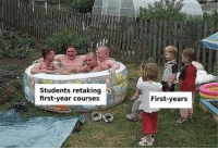 Be Like, College, and Memes: Students retaking  first-year courses  First-years College be like that sometimes via /r/memes http://bit.ly/2FpuloP