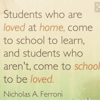 thumb students who are loved at home e to school to