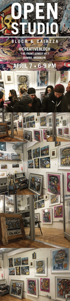 creativebloch:  Come visit us April 7 from 6-9 PM in Dumbo, Brooklyn! We are located in the Shops at 145 Front Street. Join us: https://www.facebook.com/events/1663803573870953 : STUDIO  BLOCHE& CAIAZ ZA  @CREATIVEBLOCH  145 FRONT STREET #17  DUMBO, BROOKLYN  APRIL 7 .6-9 PMC   LE  0CH   LE  GAS creativebloch:  Come visit us April 7 from 6-9 PM in Dumbo, Brooklyn! We are located in the Shops at 145 Front Street. Join us: https://www.facebook.com/events/1663803573870953