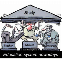 :(: Study  Student  Teacher  niversi  Some Amazing Facts  Education system nowadays :(