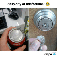 Memes, Stupidity, and 🤖: Stupidity or misfortune?  Swipe Swipe to see other pics | follow @fuckersbelike for more