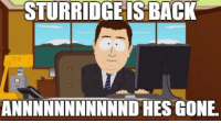 Chelsea, Memes, and Back: STURRIDGE IS BACK  ANNNNNNNNNNND HES GONE Daniel Sturridge is subbed off injured inside 3 minutes against Chelsea https://t.co/WeuKs3bShU