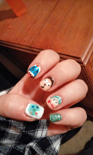 submit-your-nail-art:  Who needs Valentine's nails when you can get riggity riggity wrecked, son I via: submit-your-nail-art:  Who needs Valentine's nails when you can get riggity riggity wrecked, son I via