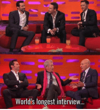 Proof that Wolverine doesnt age. He just shaves.: SUBS  World's longest interview. Proof that Wolverine doesnt age. He just shaves.