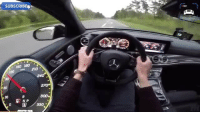 Memes, Mercedes, and youtube.com: SUBSCRIBE  ISO 180  210  120  270  300  NP  330 This is what 0-300km-h looks like in a Mercedes-AMG E63S 😲 📹 credit to @autotopnl, check them out on YouTube at youtube.com-autotopnl