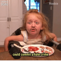 9gag, Crime, and Dank: subtitles b  9GAG  Woodsie  could commit a hate crime When your baby is a drunk version of Gordon Ramsay.  By Woodsie