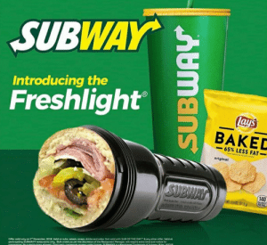 """Beef sandwich: SUBWAY  Introducing the  Freshlight  lays  BAKED  65% LESS FAT  THAN EANTAPO CP  original  SUBWAY  140  CALORES  PEA PE  WTIW07 (318)  adam.the.creator  participating SUBWAY restaurants only Buk orders as per the discretion of the Restaurant Manager, will require extra time and notice for  CoRparatie No tubatutions aloed Thid pactu trademark apoa Under Sconta SRWAYe is Reoistered Trademark of C NUR kc e2018  Offer valid only on 2"""" November, 2018 Valid on subs, salads, wraps, drinks and sides. Not valid with SUB OF THE DAY& any other offer Valid at  AUmans Beef sandwich"""