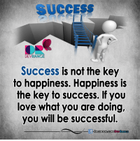 :): SUCCESS  DEVRANGE  Success is not the key  to happiness. Happiness is  the key to success. If you  love what you are doing,  you will be successful. :)