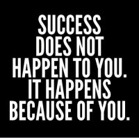 Facts, Memes, and Wshh: SUCCESS  DOES NOT  HAPPEN TO YOU  IT HAPPENS  BECAUSE OF YOU  6  2 Facts.. have to work for it 📝💯 WSHH