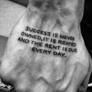 If you aren't willing to put in the work when you don't want to, you will never achieve your dreams.: SUCCESS IS NEVER  OWNED, IT IS RENTED  AND THE RENT IS DUE  EVERY DAY. If you aren't willing to put in the work when you don't want to, you will never achieve your dreams.