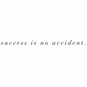 Success Is: success is no accident