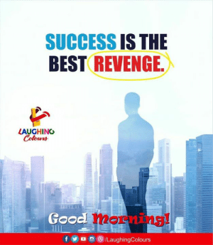 Success Is: SUCCESS IS THE  BEST REVENGE  LAUGHING  BEELLT  Good  mernins!