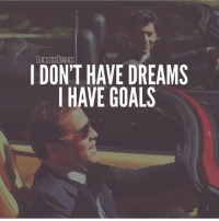 Goals, Memes, and Time: SUCCESSDIARIES  I DON'T HAVE DREAMS  I HAVE GOALS Where will you be this time next year? Thanks Chris @successdiaries 🙏 . markiron