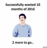 Go Meme: Successfully wasted 10  months of 2016  2 more to go.  memes Com