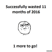 2016 in a nutshell.: Successfully wasted 11  months of 2016  1 more to go!  memes com 2016 in a nutshell.