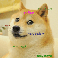 Flair Idea: such scare  so flair  WOW  very reddit  doge happi  many meme Flair Idea