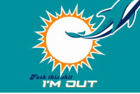 THIS JUST IN: The Miami Dolphins unveil a new logo they'll use for the remainder of the season: Suck this hit THIS JUST IN: The Miami Dolphins unveil a new logo they'll use for the remainder of the season