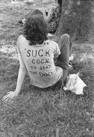 Tumblr, Blog, and Anti: SUCK  TO BEAS  THE DRA funkpunkandroll84:  An anti-war gay protester at the first Christopher Street Gay Liberation Day Parade in NYC, June 28, 1970, photographer unknown