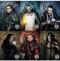 NEW SUICIDE SQUAD CHARACTER POSTERS!!!: SUICID  SEUAD  AUGUST  SUICIDE  S2UAD  AUGUST  SUICIDE  S2UAD  AUGUST  SUICIDE  S2UAD  AUGUST  SUICIDE  SEUAD  AUGUST  SUICIDE  S&UAD  AUGUST NEW SUICIDE SQUAD CHARACTER POSTERS!!!