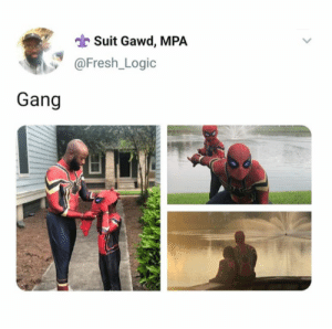 Father and son. (via /r/BlackPeopleTwitter): Suit Gawd, MPA  @Fresh_Logic  Gang Father and son. (via /r/BlackPeopleTwitter)