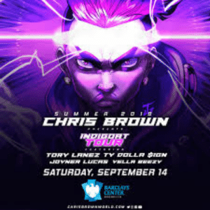 Chris Brown, Facebook, and Saw: suM MER a  CHRIS BROWN  TOUR  TORY LANEZ TY OLLA GN  JoVNER LUCR vLL  SATURDAY, SEPTEMBER 14  BARCIAYS  CENTER  cAREOAENrawasL.csw When I saw this in Facebook I thought it was sombra (no I'm not a Chris Brown fan)