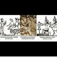 Sumerian Anunnaki Creating Prometheus and Athena the First
