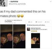 😂😂😂😂 comedy funny haha tagafriend igdaily banter lol tagafriend winter classic tbt uk london 2017 meme twitter: Summa  summa symonds  as if my dad commented this on his  mates photo  wiun sally warley ana  au V  Craig Moylan.  Like Comment  Share  1 hr Southampton  Michael Symonds and 9 others  Michael Symonds  Phil and shirley out on the lash 😂😂😂😂 comedy funny haha tagafriend igdaily banter lol tagafriend winter classic tbt uk london 2017 meme twitter