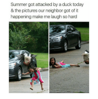 Memes, Neighbors, and 🤖: Summer got attacked by a duck today  & the pictures our neighbor got of it  happening make me laugh so hard 😂😂👏 @will_ent - - - - - - - text post textpost textposts relatable comedy humour funny kyliejenner kardashians hiphop follow4follow f4f kanyewest like4like l4l tumblr tumblrtextpost imweak lmao justinbieber relateable lol hoeposts memesdaily oktweet funnymemes hiphop bieber trump