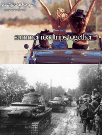 Summer, Military, and Roadtrip: summer roadtrips together.  PE