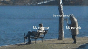 Parents, School, and Summer: Summer School  My parents  My summer  break I don't like financial literacy