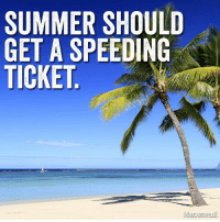 Too fast, summer... too fast.: SUMMER SHOULD  GET A SPEEDING  TICKET Too fast, summer... too fast.