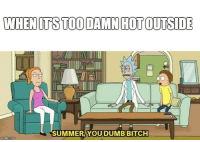 Bitch, Reddit, and Summer: SUMMER YOUDUMB BITCH  mgiap.com when its too hot outside