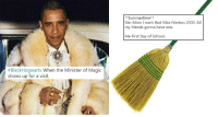 <p>#BlackHogwarts Is A Hilariously Entertaining Meeting Of Harry Potter And Black Culture</p>: **Summertime  Me: Mom I want that Nike Nimbus 2000. All  my friends gonna have one.  Me First Day of Schoo..  #BlackHogwarts when the Minister of Magic  shows up for a visit. <p>#BlackHogwarts Is A Hilariously Entertaining Meeting Of Harry Potter And Black Culture</p>
