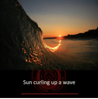 Memes, 🤖, and Sun: Sun curling up a wave
