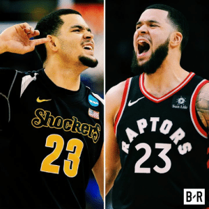 "Fred VanVleet's story just got even better.  Went from: ◽️Unranked in HS ◽️Two D-I offers ◽️Wichita State stud ◽️Final Four ◽️""Too small"" (6'0"") ◽️Undrafted ◽️4th-string PG  To: ◽️NBA champion ◽️Key shooter and defender ◽️$18 million extension: Sun Life  ORS  Shockers  2 23  B R Fred VanVleet's story just got even better.  Went from: ◽️Unranked in HS ◽️Two D-I offers ◽️Wichita State stud ◽️Final Four ◽️""Too small"" (6'0"") ◽️Undrafted ◽️4th-string PG  To: ◽️NBA champion ◽️Key shooter and defender ◽️$18 million extension"