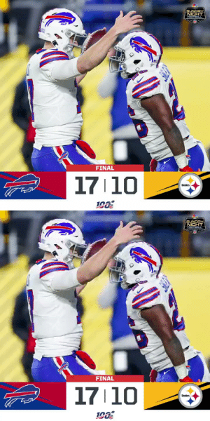 FINAL: The @BuffaloBills improve to 10-4! #BUFvsPIT #GoBIlls   (by @Lexus) https://t.co/rVRPMQjP34: SUNDAY  NICHT  FOOTBALL  FINAL  17 10  Steelers   SUNDAY  NICHT  FOOTBALL  FINAL  17 10  Steclers FINAL: The @BuffaloBills improve to 10-4! #BUFvsPIT #GoBIlls   (by @Lexus) https://t.co/rVRPMQjP34