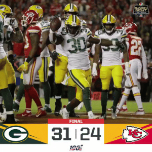 FINAL: @packers over the Chiefs on Sunday Night! #GoPackGo #GBvsKC  (by @Lexus) https://t.co/aa53vA3aCa: SUNDAY  NIGHT  FOOTBACL  30  FINAL  31 24 FINAL: @packers over the Chiefs on Sunday Night! #GoPackGo #GBvsKC  (by @Lexus) https://t.co/aa53vA3aCa