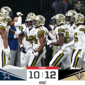 Lexus, Memes, and New Orleans Saints: SUNDAY  NIGHT  FOOTBACL  FINAL  10 12 FINAL: The @Saints improve to 3-1! #DALvsNO #Saints  (by @Lexus) https://t.co/78z9hHYhgj