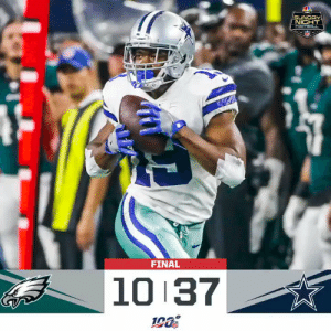 FINAL: @dallascowboys take the division lead with a 37-10 win! #PHIvsDAL #DallasCowboys  (by @Lexus) https://t.co/yN6mqTXeWM: SUNDAY  NIGHT  FOOTEOLL  FINAL  10 37 FINAL: @dallascowboys take the division lead with a 37-10 win! #PHIvsDAL #DallasCowboys  (by @Lexus) https://t.co/yN6mqTXeWM
