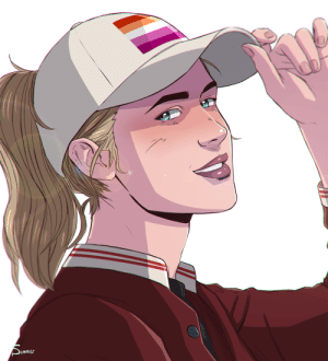 summerfelldraws:  they all but cornfirmed she's canon lesbian disaster so i'm allowed to post this now thank you: Sunmes summerfelldraws:  they all but cornfirmed she's canon lesbian disaster so i'm allowed to post this now thank you