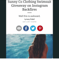 f8cab9f4321 Sunny Co Clothing Swimsuit Giveaway on Instagram Backfires Well This Is  Awkward Lynsey Eidell MAY 4 2017 1222 PM Sunny Co Clothing Swimsuit Giveaway  on ...