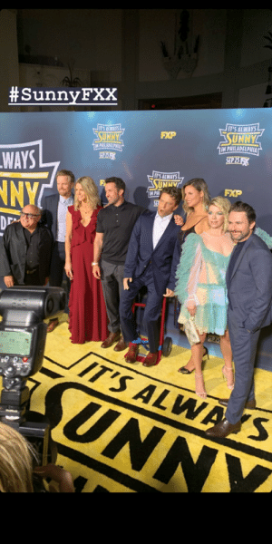 Philadelphia, Today, and It's Always Sunny in Philadelphia:  #Sunny FXX  IT'S ALWAYS  SUNNY  IN PHILADELPHIA  SEP217  T'S ALWAYS  FXP  SUNNY  1IN PHILADELPHIA  S4261  WAYS  IT'S ALWAYS  SUNNAT  IN PH  FXP  NYC  SEA  D  SEP25  IT'S ALWA S  UNNY So this happened at the premiere today!!!