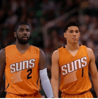 Memes, Nba, and 🤖: SUNS  2  SUnS That duo would be too fuego. C: @dbook1daily h-t: @kyrieirvingkicks Tags: Suns NBA Kyrie Booker