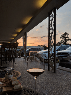 Sunset at a wine bar off of Memorial Dive in Houston: Sunset at a wine bar off of Memorial Dive in Houston