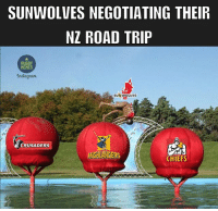 Memes, Chiefs, and Rugby: SUNWOLVES NEGOTIATING THEIR  NZ ROAD TRIP  RUGBY  MEMES  Anstogram  SUN WOLVES  CRUSADERS  HIGHLANDERS  CHIEFS Talk about a tough three weeks 😂 rugby sunwolves superrugby
