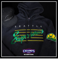 Memes, Nostalgia, and 🤖: SUP  S E A T L E  CHAMPS  SPORTS  WE KNOW GAME. Nostalgia via @mitchellness with the Supersonics hoodie and snapback! WeKnowGame